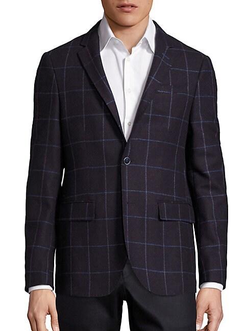 Bordeau Window Pane Wool Jacket