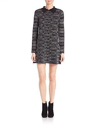 Spacedye Collared Wool Dress