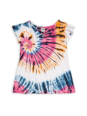 Girl's Cotton Tie-Dye Top