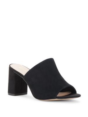 Beverly Suede Mules, Black