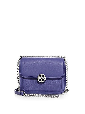 Duet Micro Leather Chain Crossbody Bag