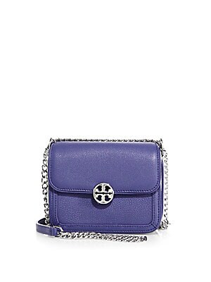 Duet Micro Leather Chain Crossbody Bag