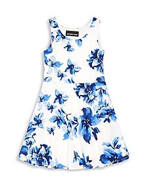 Little Girl's & Girl's Floral-Print Dress