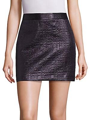 Mod Metallic Jacquard Skirt
