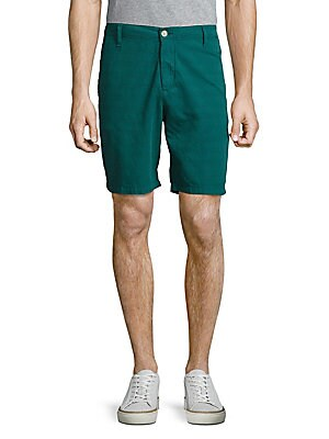 Cotton Shantung Shorts