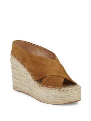 Atifa Suede Espadrille Platform Sandals in Mink
