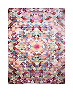 Marquee Multicolor Geometric Rug