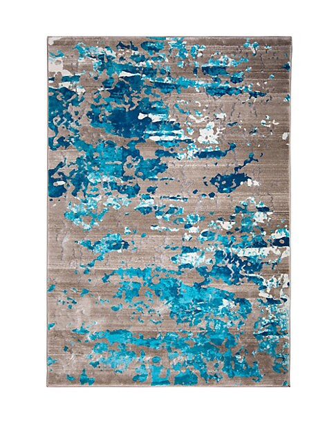 Vogue Beige & Turquoise Area Rug