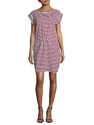Sangria Breton-Striped Dress