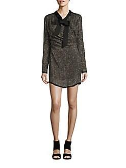 Rachel Zoe - Long-Sleeve Beaded and Sequined Sheath Dress