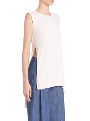 Adam Lippes Cashmeres Solid Roundneck Top