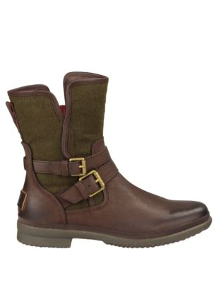 Ugg Suedes Simmens Leather & Felt Shearling-Lined Boots
