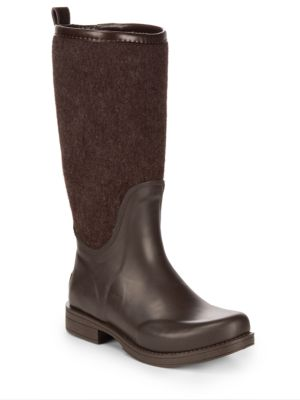 Wendell Reignfall Faux Fur All-Weather Boots in Chocolate