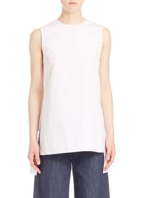 Adam Lippes Cottons Solid Sleeveless Blouse