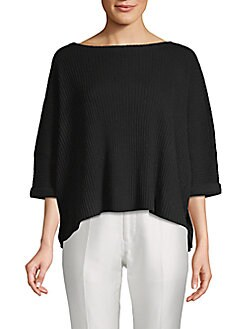Cashmere Saks Fifth Avenue - Boxy Cashmere Cropped Top
