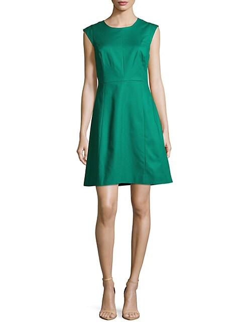 Solid Cotton-Blend Dress