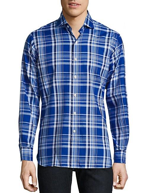 Plaid Oxford Button-Down Shirt