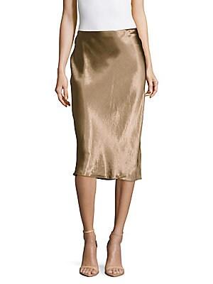 Metallic Pull-On Skirt