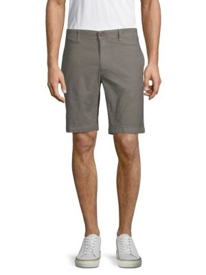 TAILOR VINTAGE Classic Slim Shorts in Brushed Nickel