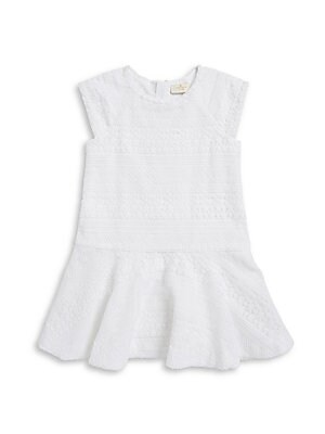 Little Girl's & Girl's Dropped Waist Crocheted Dress