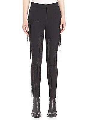 Fringe-Detail Pants