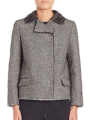 Roberto Cavalli  Double Breasted Tweed Jacket