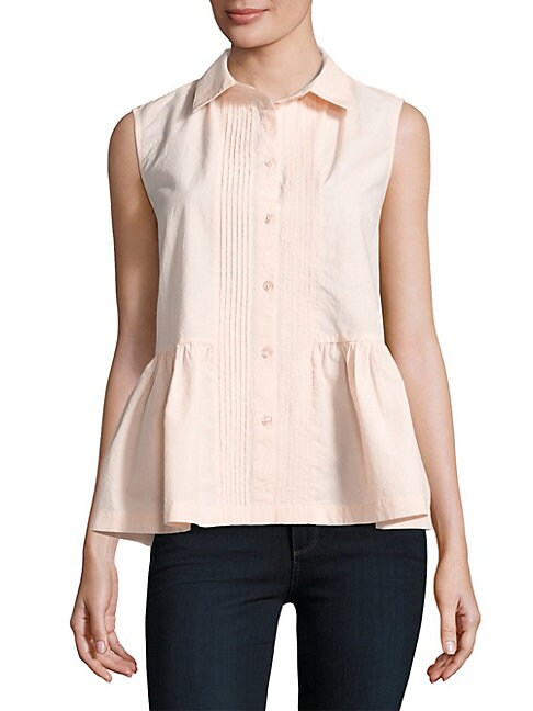Cotton Peplum Top