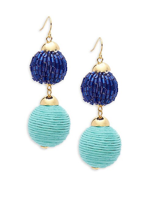Double-Drop Ball Earrings