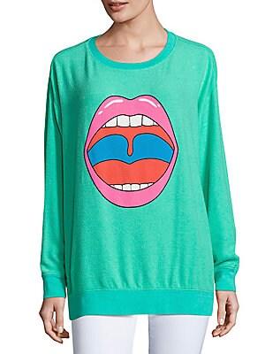 Lip Graphic Sweatshirt