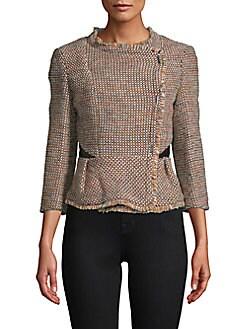 KAREN MILLEN - Tweed Peplum Jacket
