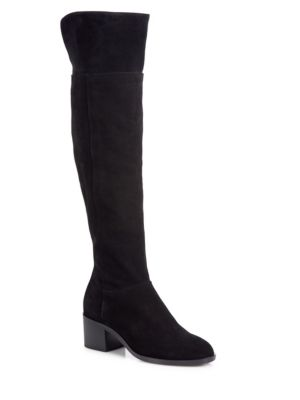 Ashby Suede Over-The-Knee Boots in Black