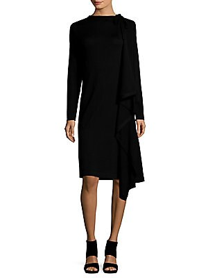 Wool Long Sleeve Dress