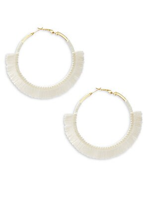 Fringed Trim Hoop Earrings/3