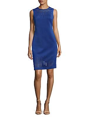 Laser Cut Detail Dress