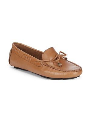 Lace-Up Leather Driver Shoes, Tan