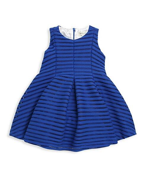 Little Girl's Shadow Stripe A-Line Dress