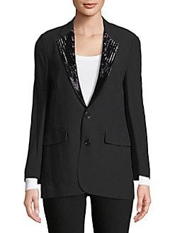 Product image. QUICK VIEW. Ralph Lauren. Yvette Beaded-Lapels Jacket