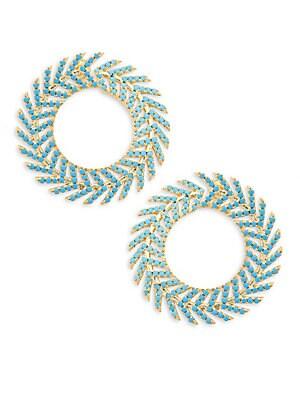 Sea Green Spinel Earrings