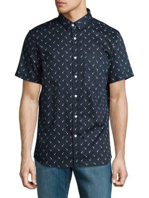Sovereign Code  Garwin Cotton Casual Button-Down Shirt