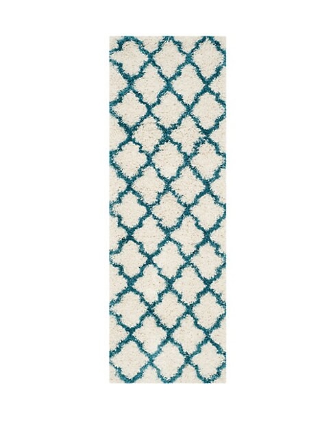 Geometric Patterned Rectangular Rug