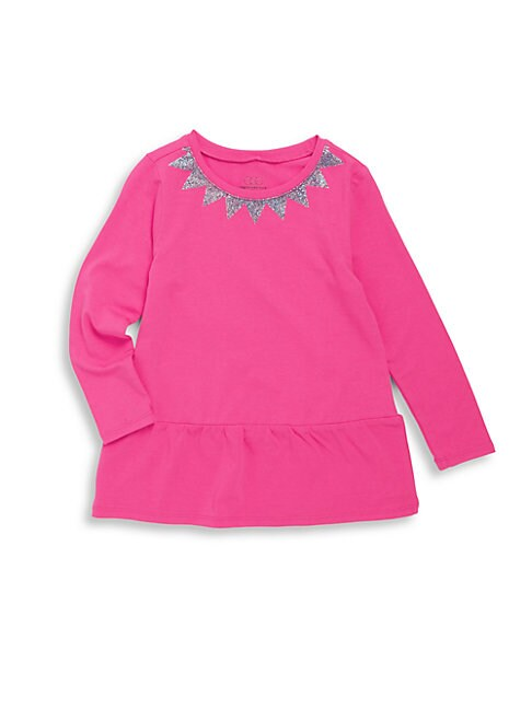 Little Girl's Long Sleeve Swing Top