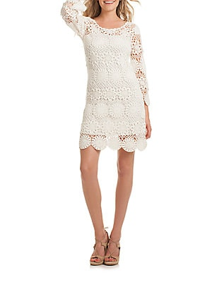 Devora Crocheted Sheath Dress