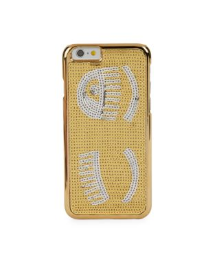Sequined Iphone 6-6S Case, Gold