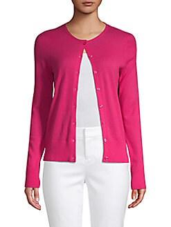 Saks Fifth Avenue BLACK - Buttoned Cashmere Cardigan
