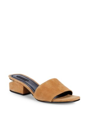 Lou Low Heel Sandals In Clay Goatskin Leather in Nude & Neutrals