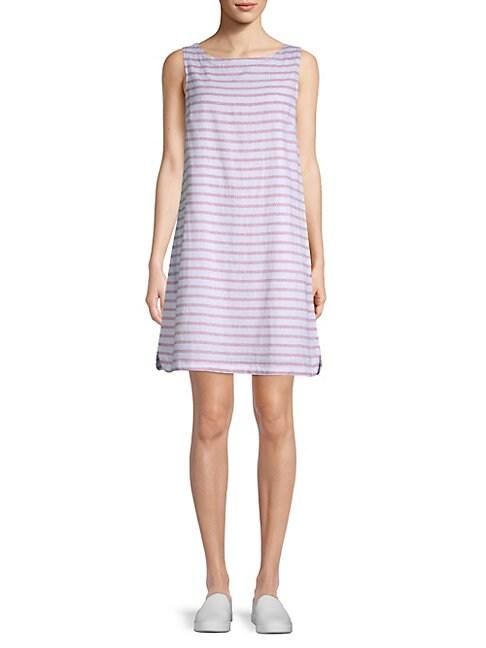 BEACH LUNCH LOUNGE   Striped Sleeveless Dress   Goxip