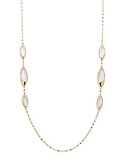 LANA JEWELRY - Jetset 14K Yellow Gold & Crystal Necklace