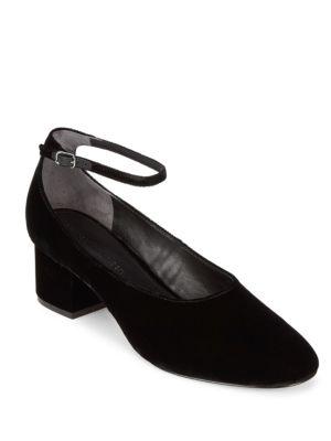 Sigerson Morrison Kairos Ankle Strap Velvet Pumps