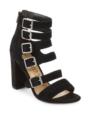 Sam Edelman Leathers Zip Leather Open Toe Sandals