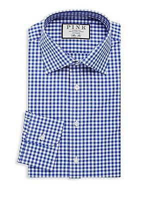 Check Cotton Button-Down Shirt